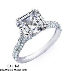 3.21CT ASSCHER CUT DIAMOND ENGAGEMENT RING EGL VS2-G-14k White Gold Asscher Cut Engagement Rings #asscher #asscherdiamonds #asschercut #asschercutengagementrings $16845