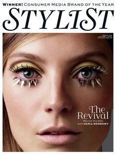 Daria Werbowy by Victor Demarchelier for stylist magazine 168 april 2013 4 Stylist Magazine UK # 168 1960s Makeup, Vintage Makeup, Makeup Inspo, Beauty Makeup, Eye Makeup, Makeup 2016, Mode Inspiration, Makeup Inspiration, Flower Power