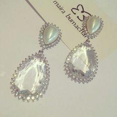 Especialmente para nossas noivinhas #perola #cristal #bride #noivas #noivasmb #designerdejoias @Maira Bumachar #mairabumachar