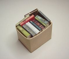 Dollhouse Miniature Books Box