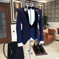 Áo vest xanh navy