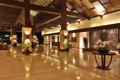Lobby in the evening