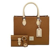 Dooney & Bourke Leather Janine Satchel w/ Accessories $218 ...