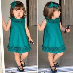 Best 12 New Collection Kids Dresses Baby Dress Design, Baby Girl Dress Patterns, Kids Dress Clothes, Little Girl Dresses, Children Clothes, Baby Dresses, Dress Girl, Baby Girl Fashion, Fashion Kids