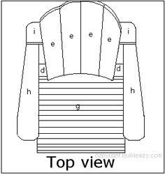Adirondack chair top view plan