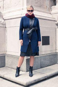 Quilted Faux Leather Lapel Coat | Women's Plus Size Coats | ELOQUII