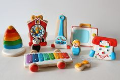 Vintage Toy Cookies...fisher price cookies ... I had all of these toys