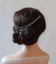 1920s  wedding Headpiece  Bohemian headchain  von RoseRedRoseWhite
