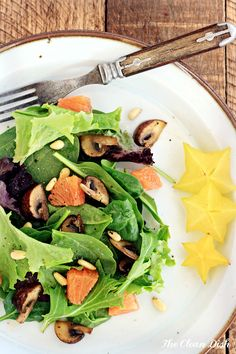 Winter Salad with Honey Glazed Mushrooms and Orange Vinaigrette {grain free, gluten free}