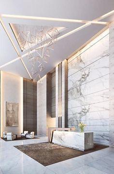 Hotel lobby design - 17 Impressive Interior Design Ideas For Lobby – Hotel lobby design Hotel Lobby Design, Design Entrée, House Design, Design Ideas, Paris Design, Creative Design, Design Trends, Modern Design, Moodboard Interior