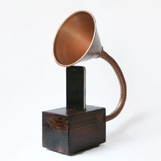 Inspired by gramophone speakers which sell for hundreds, this little novelty speaker would be a great DIY gift for a music lover.