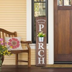 Porch Signs, Home Signs, Diy Signs, Outdoor Signs, Outdoor Decor, Outdoor Welcome Sign, Outdoor Living, Outdoor Stuff, Outdoor Ideas