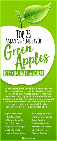 Top 26 Amazing Benefits Of Green Apples For Skin, Hair, And Health - Health Benefits Apple Juice Benefits, Green Juice Benefits, Juicing Benefits, Benefits Of Green Apples, Health Benefits Of Apples, Natural Skin Care, Natural Health, Green Juice Recipes, Health Advice