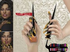 FLAME NAILS (COLORS VERSION) - The Sims 4 Download - SimsDom RU