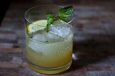 Bourbon Smash ~ bourbon, simple syrup, lemon, mint, soda