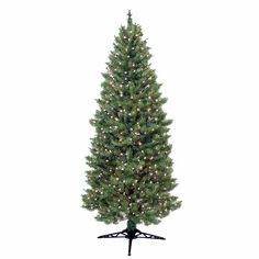 General Foam 7 ft. Pre Lit Slender Spruce Artificial Christmas Tree with Clear Lights-HD-LP7000 - The Home Depot