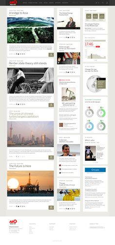 Abo Oil - Web Magazine / Concept Redesign on Web Design Served web Print inspiration News Web Design, Web Design Trends, Site Design, Web Layout, Layout Design, Card Ui, Ui Design Inspiration, Design Ideas, Responsive Layout