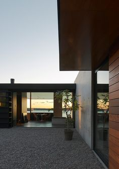 Rock House - desire to inspire - desiretoinspire.netThe Rock House, perched on the edge of a cliff in the outskirts of Stockholm on Lake Mälaren. Designed by Arkitektstudio Widejdal Racki. What a beautiful location, and the mix of concrete, glass and wood creates a modern and organic retreat. I find it a bit cold but with the addition of more rugs and some plants, I think it would be the perfect getaway home. ... and I agree!