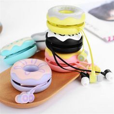 Cheap mic headphones, Buy Quality headphones for girls directly from China earphone mic Suppliers: Donut case Candy Color Cute Earphones Mic headphone for girls Kids Earbuds for iPhone Samsung Huawei iPod Cellphone Ipod, Mini Automatic, Headphone Wrap, Cool Toys For Girls, Kids Girls, Cute Donuts, Earphone Case, Samsung, Candy Colors