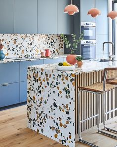 """Nicki Bamford-Bowes on Instagram: """"(SWIPE >>) Really proud to see my clients beautiful terrazzo kitchen featured in todays @telegraphstella @telegraph in the 'Kitchen Trends…"""" Interior Walls, Interior Design Kitchen, Küchen Design, House Design, Door Design, Sweet Home, Australian Interior Design, Terrazzo Flooring, Bathroom Flooring"""