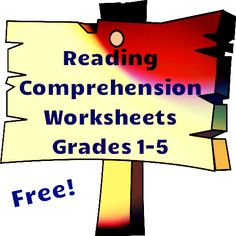 Free reading comprehension worksheets for grades 1-5.