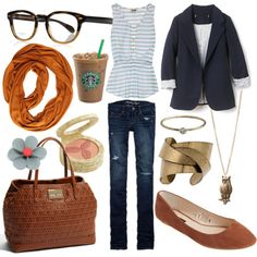 Look cute while running errands. A Starbucks iced coffee is always a good accessory