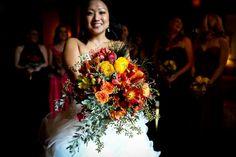 Firey winter wedding! www.redfoxfloral.com