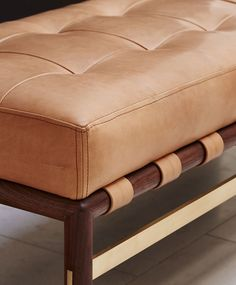 Solid American Walnut teamed with top stitched natural Verona aniline leather imparts contemporary handmade luxury, the design sitting comfortably in both contemporary and classic interiors. Booth Seating In Kitchen, Dining Room Bench Seating, Corner Seating, Cafe Seating, Bedroom Seating, Floor Seating, Lounge Seating, Melbourne, Leather Bench