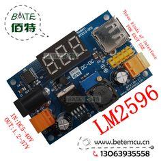 New LM2596 DC 4.5~40 to 1.25 37V Adjustable Step Down Power Module + LED Voltmeter + USB port +2.54mm - 5.6$