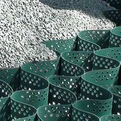 GroundGrid provides structural support and erosion control for gravel parking lots and roads. For residential and commercial applications. Gravel Driveway, Driveway Landscaping, Small Backyard Landscaping, Resin Driveway, Driveway Design, Driveway Ideas, Permeable Driveway, Diy Driveway, Landscaping Contractors