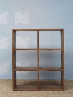 www.livinghome.nl info@livinghome.nl €315,- #vakkenkast #kast #hout #bruin #interieur