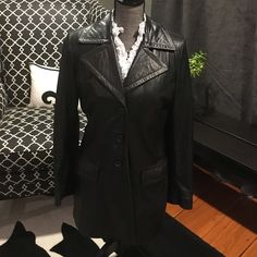 Vintage leather trench Vintage leather trench coat. Leather is very soft. Back vent and sleeve buttons. Banana Republic Jackets & Coats Trench Coats