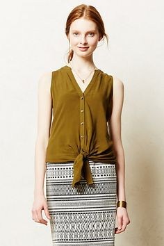 sleeveless button down with pencil or body con skirt