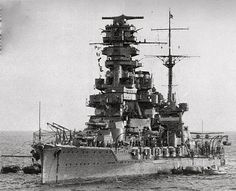 Rarely seen photo of Japanese battleship Hyuga