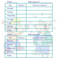 Printable Behavior Control Chart: Boy Tantrums - Printable Chore Charts - Free Printable Activities