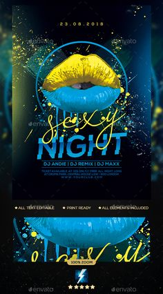Sexy Night Party Flyer — Photoshop PSD and whiteYou can find Party flyer and more on our website.Sexy Night Party Flyer — Photoshop PSD and white Creative Flyers, Creative Posters, Banner Design, Flyer Design, Club Flyers, Photoshop, Poster Design Inspiration, Festival Posters, Party Flyer