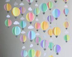 Hot Air Balloon Garland  Ice Cream Dream  by youngheartslove