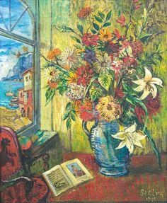 Бурлюк Д. Д. Цветы на столе
