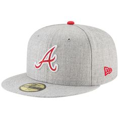 Atlanta Braves New Era Hype 59FIFTY Fitted Hat – Heathered Gray 646f44e69