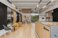 View the full picture gallery of Ondatel Workspace Design, Office Interior Design, Office Interiors, Office Kitchenette, Office Entrance, Office Reception, Breakout Area, Lobby Lounge, Small Tables