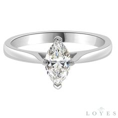 Marquise Solitaire Engagement Ring from Loyes Diamonds in white gold, platinum, rose gold and yellow gold. Stunning Engagement Rings In Dublin Marquise Cut Diamond, Diamond Cuts, Platinum Ring, Dublin, Bridal Jewelry, Ava, White Gold, Rose Gold, Engagement Rings