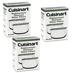 Cuisinart DCCRWF Triple Pack Charcoal Water Filters in Cuisinart DCCRWF Retail Box -- Click image to review more details.Note:It is affiliate link to Amazon.