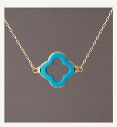 2d600826d28 Turquoise Four Leaf Clover Gold Necklace by JENNYandJUDE on Etsy