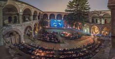 Kurshumli is a Cinema in Skopje, Macedonia - This is the image of the Creative Documentary Film Festival. Notting Hill, Cinema Theatre, Movie Theater, Orange Cinema, Budapest, Architecture Romaine, Studio Disney, Las Vegas, Republic Of Macedonia