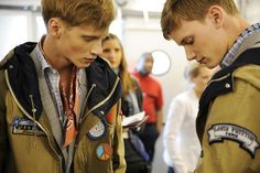 Backstage at the Louis Vuitton Men's Spring '14 Show