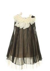 Kid's Dream Girl's Lovely Silk Chiffon Girl Dress (Black)