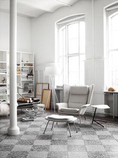White and tile floor - via Coco Lapine Design