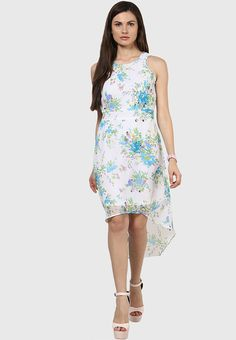 a83895c7ae5a7 Buy Harpa Multicoloured Colored Printed Asymmetric Dress Online - 3353515 -  Jabong