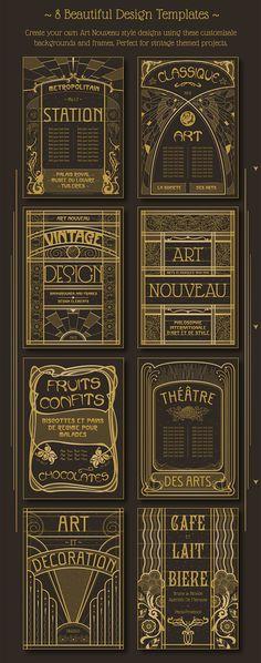 Art Nouveau Backgrounds - https://www.designcuts.com/product/art-nouveau-backgrounds/