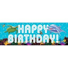 Creative Converting Ocean Party Giant Party Banner 60Inch ** Check this awesome product by going to the link at the image.